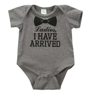 "🚚 👔""Ladies, I have arrived""Baby Romper"