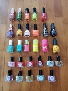 28 Shades Nail Polish Clearance Lot Destash Grab Bag Essie Ciate Models Own China Glaze Revlon Face Shop