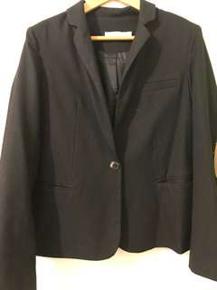 Black Blazer w/ Tan Shoulder Pads