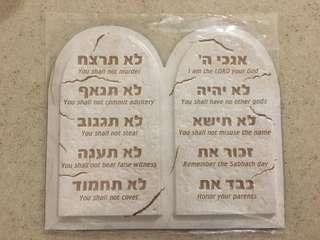 Ten commandment magnet 十誡