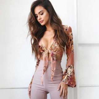 Bohemian Wrap Up Tie Knot Top