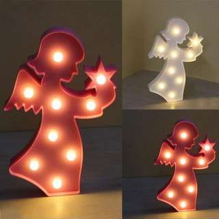 (PO) Baby Angel LED Night light Children Kids Girl Boy Nursery Room lighting Decoration