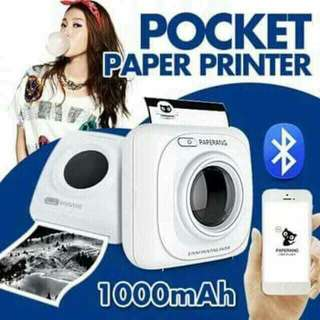 Paper pocket printer