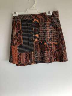 Zara aztec skirt size large