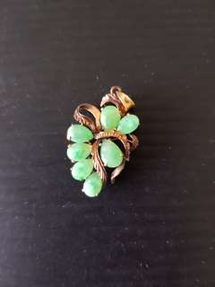 Jade with 14K Gold