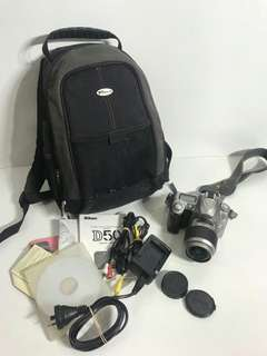 Nikon D50 dslr with freebies rush sale