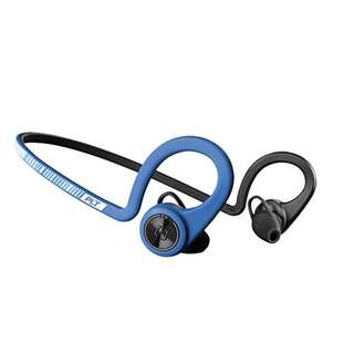 Plantronics BackBeat FIT Wireless Bluetooth Headphones - Waterproof Earbuds with On-Ear Controls for Running and Workout (Power Blue)