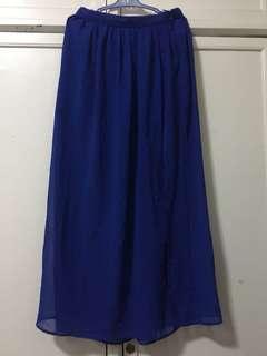 Forever21 see thru maxi skirt