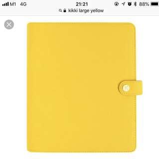 Kikki k large planner (yellow)