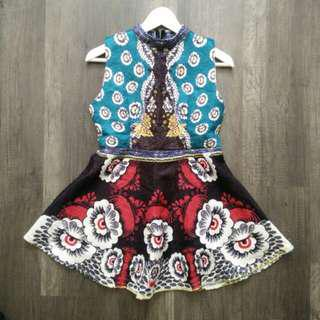 Brand New Colorful flare dress