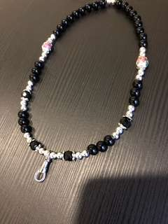 Black and Silver Amulet Necklace