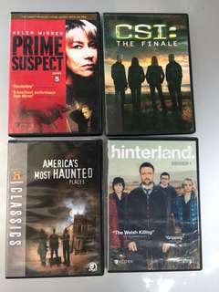 Crime Series & DVDs (NOT AVAILABLE LOCALLY)