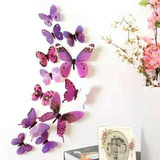 Wallstiker butterfly 100.000 isi 5paket