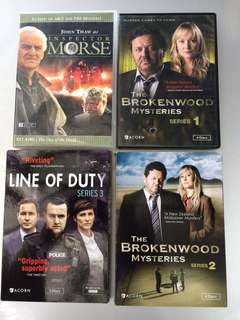 Mystery Series & DVDs (NOT AVAILABLE LOCALLY)