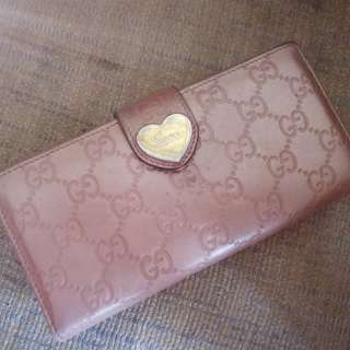 Preloved Authentic Gucci Heart Continental Wallet in Rose Gold