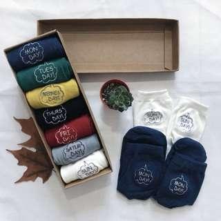 Daily Socks 7 Pairs in Gift Box (Female)