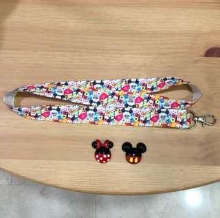 Tsum Tsum lanyard with brooch (choose 1)
