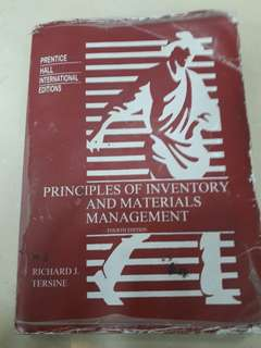 buku principle of inventory and materials management #kanopixcarousell