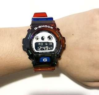 Casio G-shock Dw-6900 黑彩虹🌈 非原廠 錶帶 錶殻 (strap only)