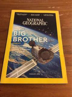 National Geographic The new big brother Feb 2018 magazine
