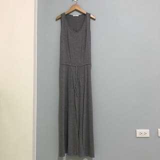 正韓灰色長洋裝