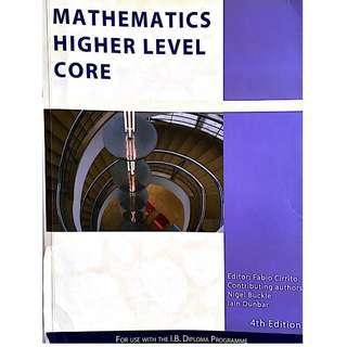 Mathematics HL Core (IB) - By Nigel and Iain