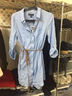 🚚 全新英國品牌Primark 藍色襯衫洋裝
