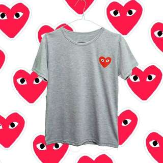Heart Tumblr Tee - Grey