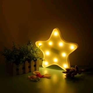 (PO) Star LED Night Light Children Kids Girl Boy Nursery Room lighting Decoration