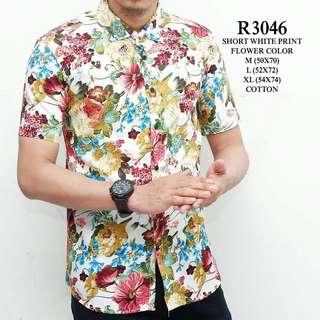 Kemeja pendek pria motif batik WL R3046