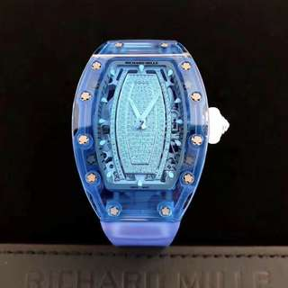Richard Mille 理查德,RM 07-02 Automatic Blue Sapphire,全藍色藍寶石表殻鑽唇,全新,有意請私信詢價,謝謝。