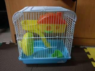 🚚 鼠籠 遊樂園造型(附贈飼料)