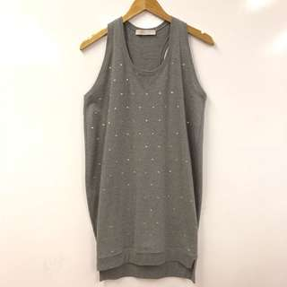 Stella mccartney gray with gold dots long vest size 38