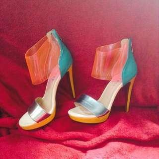 Tri-color High Heels