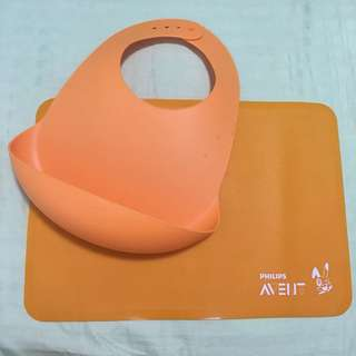 AVENT FEEDING BIB AND PLACE MAT