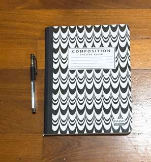monochrome / b&w patterned notebook