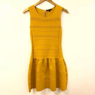 長身裙 Maje orange vest dress size 1
