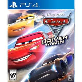 [NEW NOT USED]  PS4 Cars 3: Driven to Win SONY PlayStation Warner Home Video Racing Games