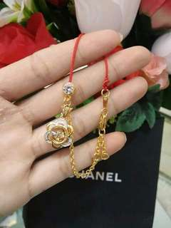 GOLD 916Red Lucky Lace