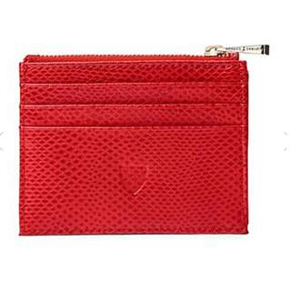ASPINAL OF LONDON Reptile-effect leather coin and credit card holder