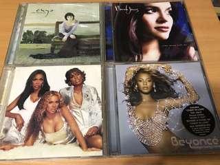 Enya, Norah Jones, Destiny's Child & Beyoncé (4 albums)