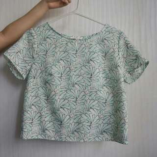 Pastel Green Floral Top