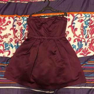 Forever 21 Maroon / Violet Dress