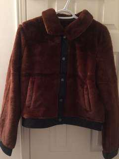 BNWOT Faux fur coat