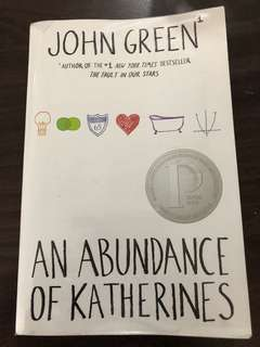The Abundance of Catherines by John Green