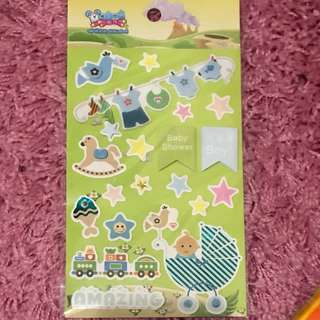 Pop-up Baby Shower Stickers <Boy>