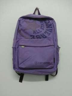 Purple Canvas Backpack