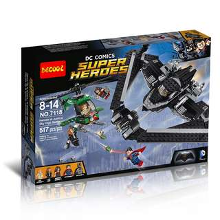 DECOOL™ 7118 Super Heroes of Justice: Sky High Battle