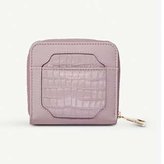 ASPINAL OF LONDON Marylebone mini crocodile-embossed leather purse