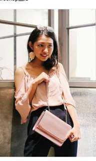HnM Pink Metalic Slingbag